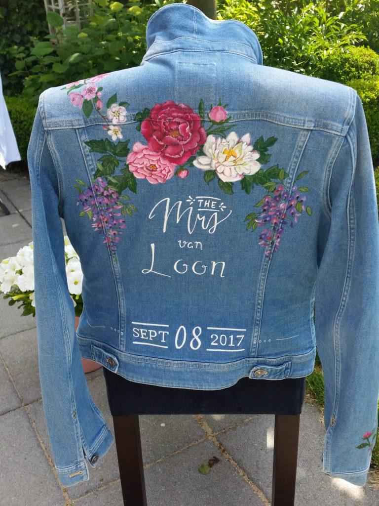 denim jasje voor over je trouwjurk