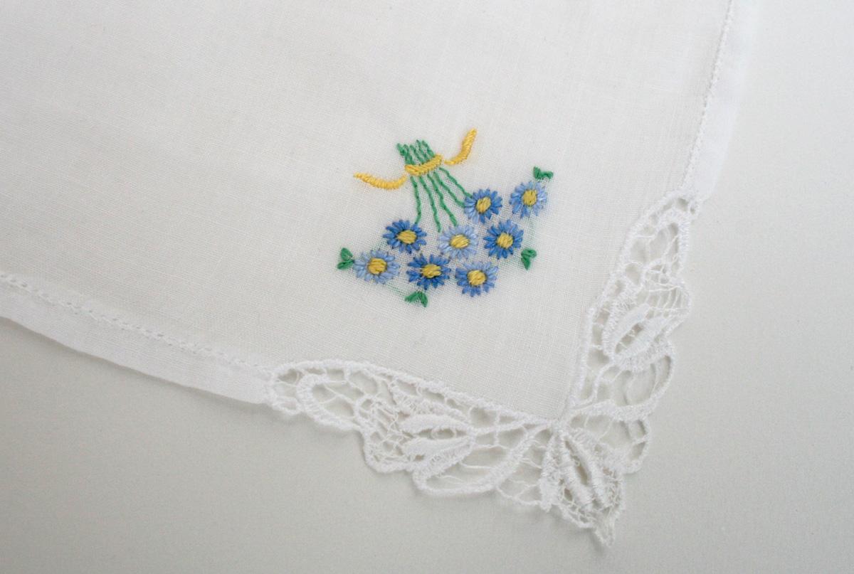 Something blue zakdoekje voor de bruid