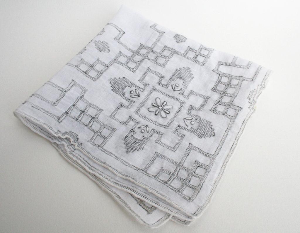 franse zakdoek vintage jaren 50