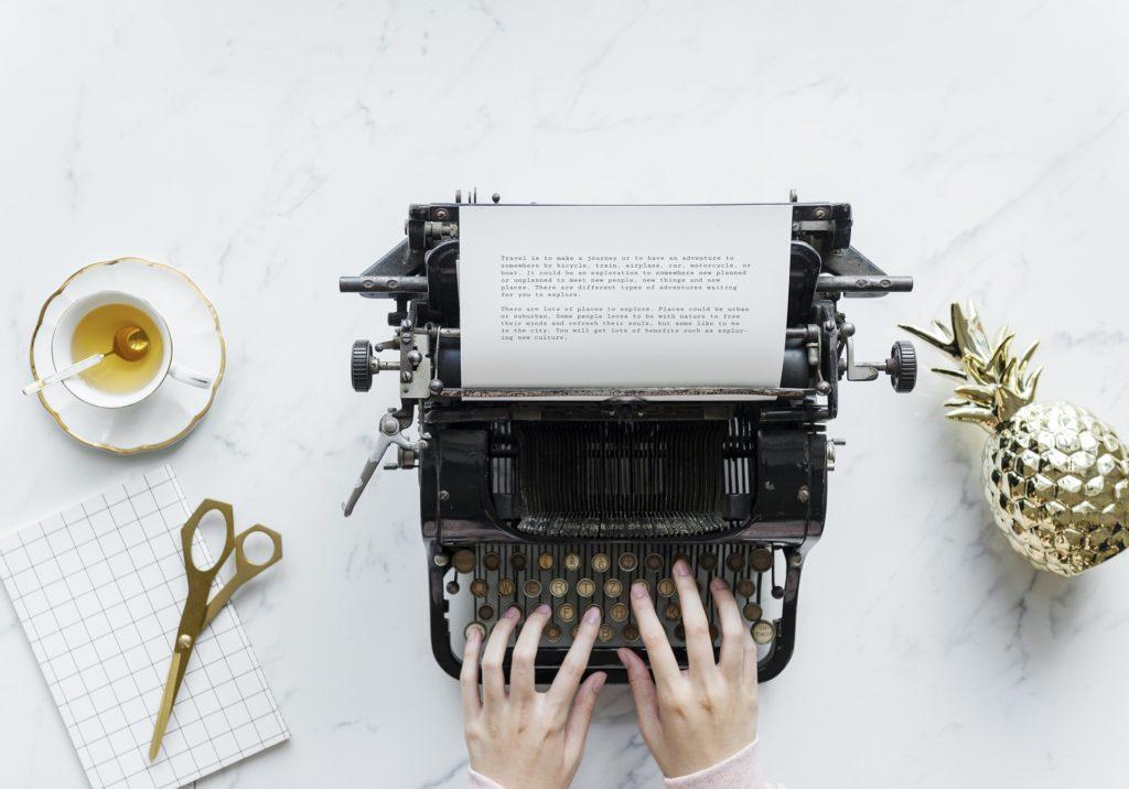 oude typemachine voor je bruiloft