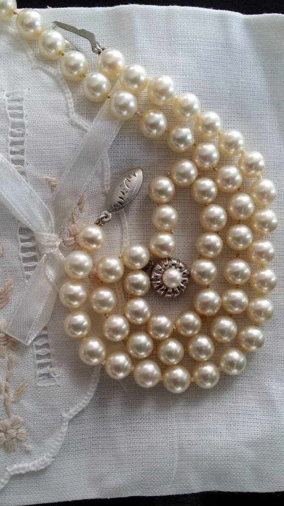 parels voor de bruid, een klassieke something old