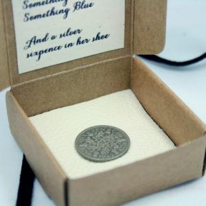 zilveren sixpence uit 1928