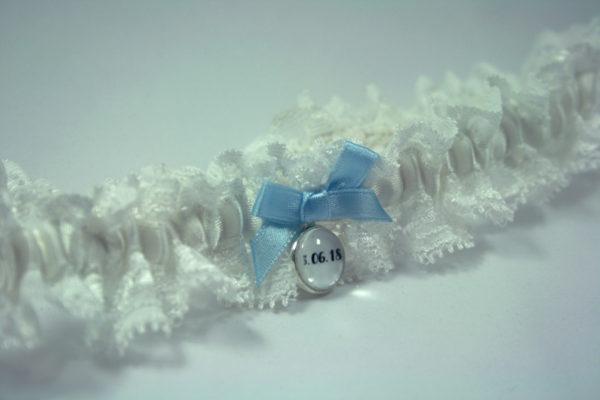 kousenband met trouwdatum in vintage stijl