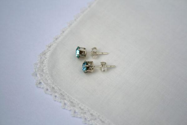 zilveren oorbellen met something blue