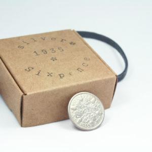 zilveren sixpence uit 1935