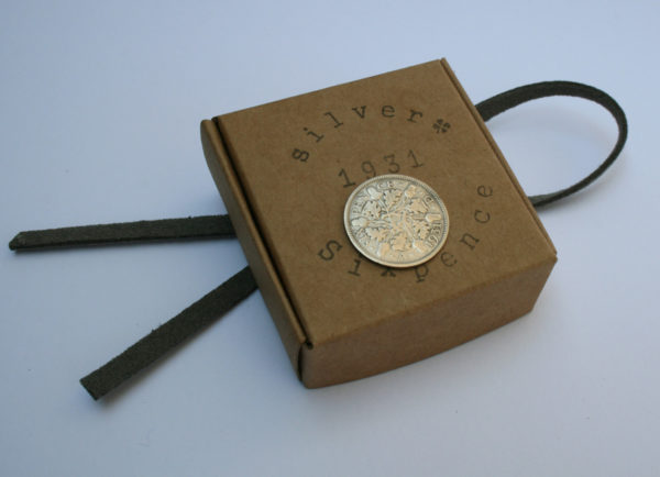 Silver sixpence uit 1931