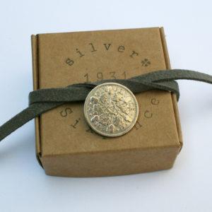 Zilveren sixpence uit 1931