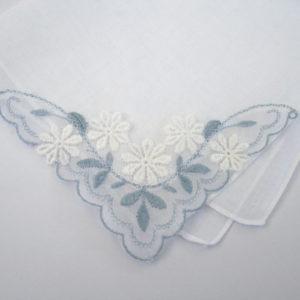 Vintage zakdoekje Something Blue #10