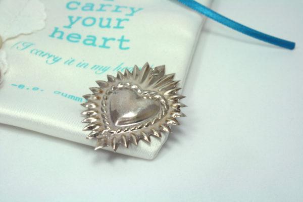 zilveren devotie hartje