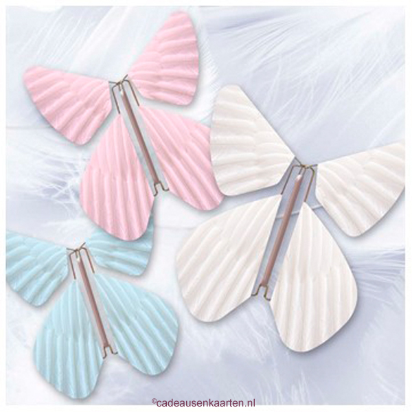 Magic Flyer Vlinders - pastel Feather