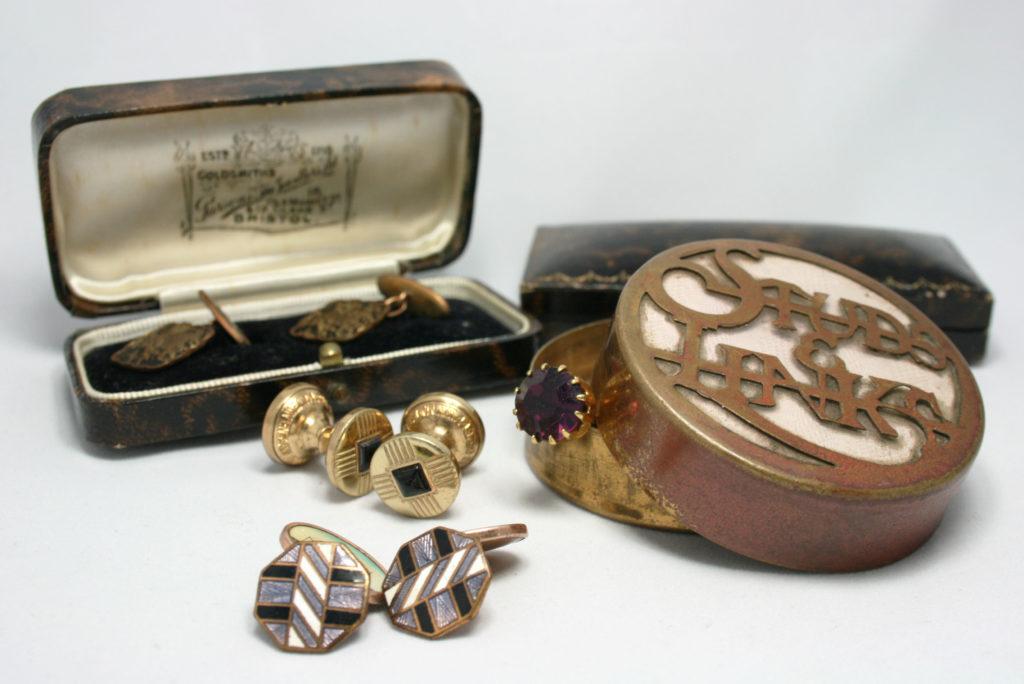 Vintage manchetknopen voor de bruidegom