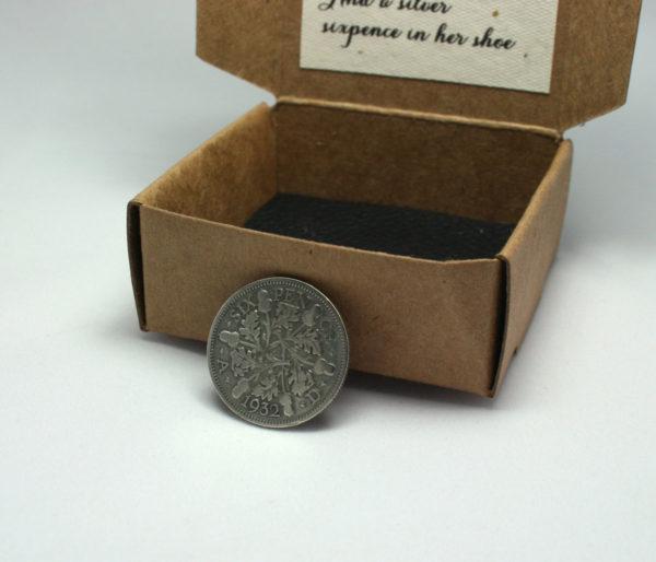 zilveren sixpence uit 1932