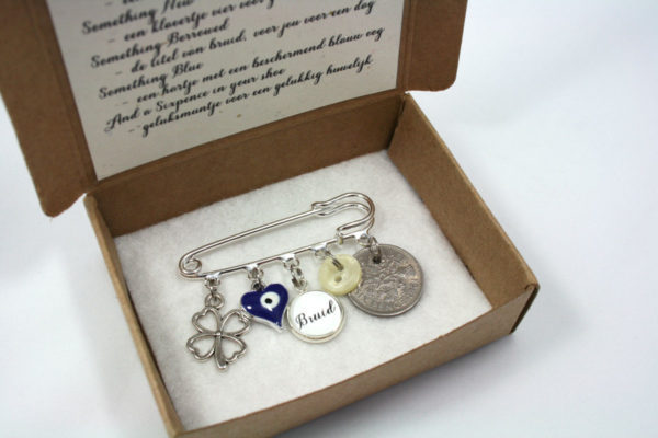 Something old, something new, something borrowed, something blue & a sixpence