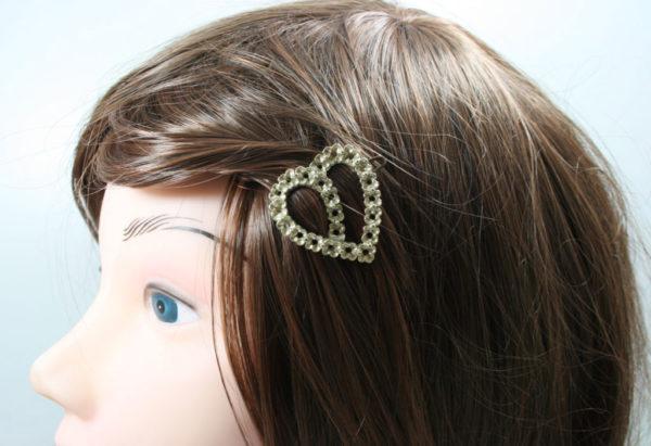 vintage haarspeld hartvorm