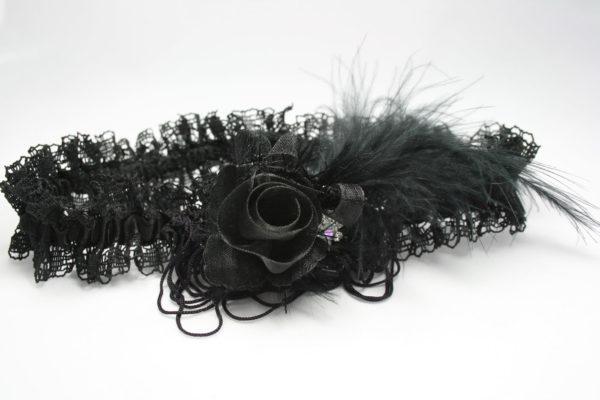 Kousenband zwart jaren 20