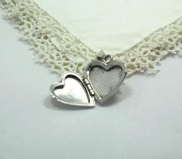 Vintage hartvormig medaillon