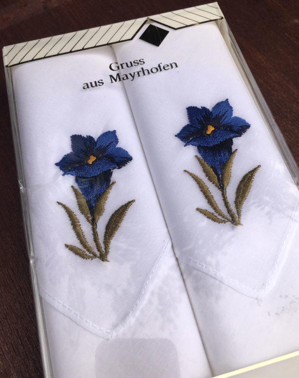 zakdoekjes something blue vintage maar nieuw in doosje