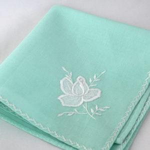 Handgemaakt vintage zakdoekje