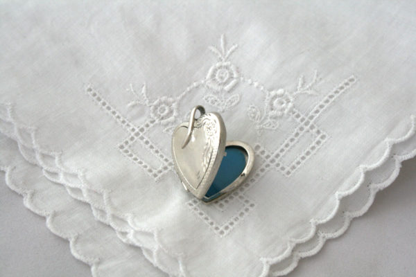 vintage zilveren medaillon hart
