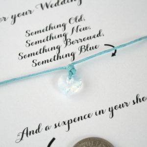 Kaartje voor de bruid met something blue