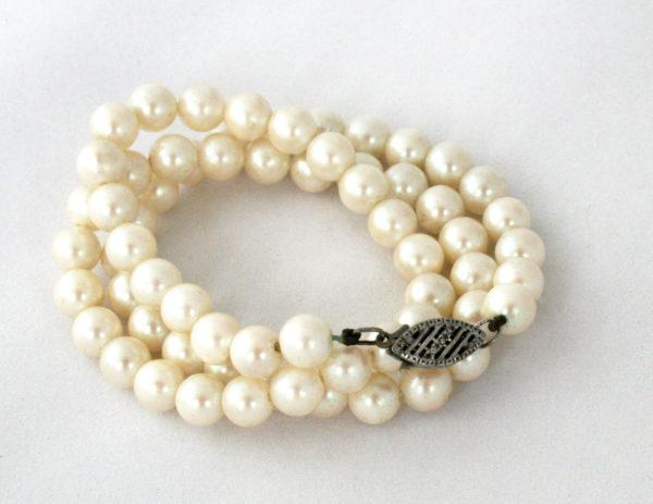 parelketting voor de bruid - vintage accessoires