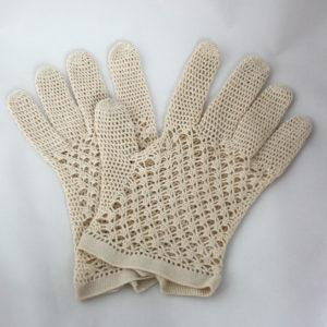 vintage gehaakte handschoenen voor de bruid