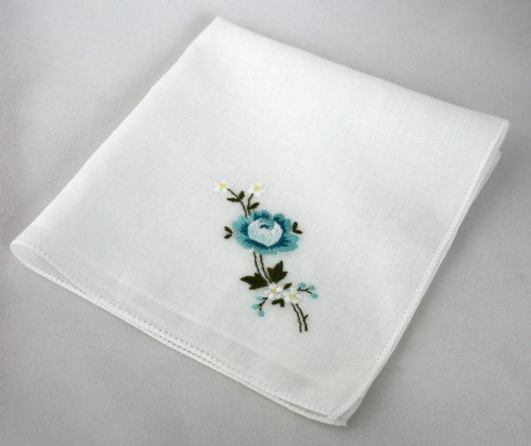 Vintage zakdoekje met something blue