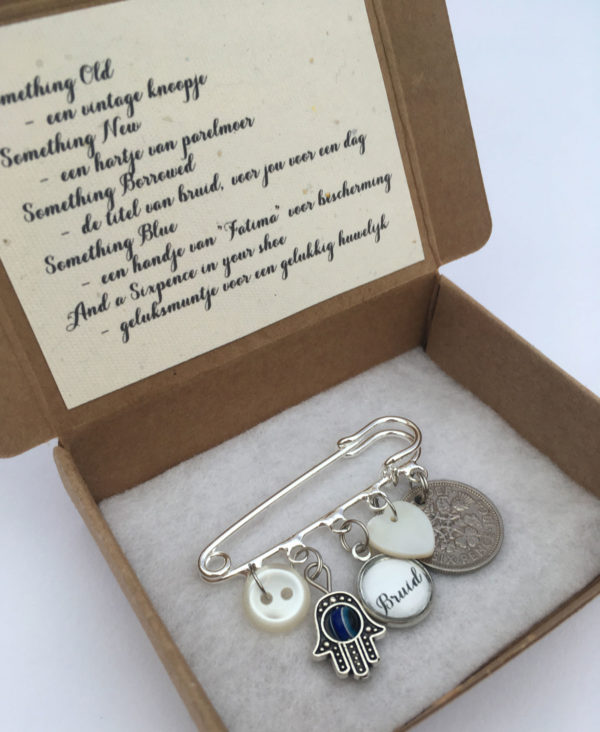 something old, something new, something borrowed, something blue and a sixpence for her shoe