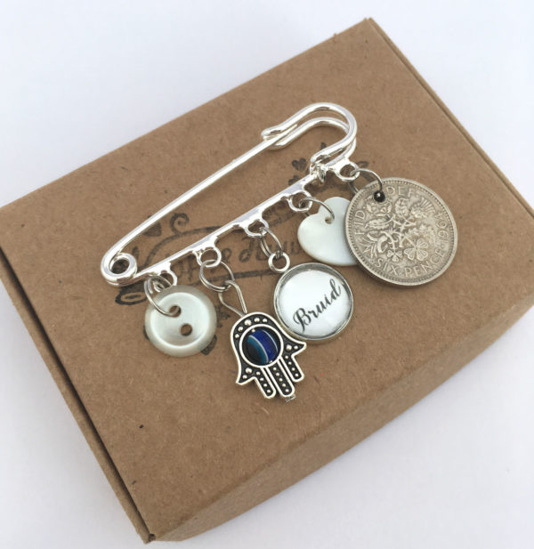 Something borrowed, old, new, blue and a sixpence