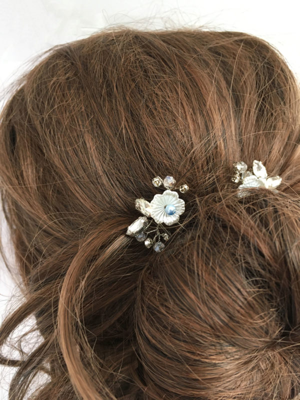Bruidskapsel something blue