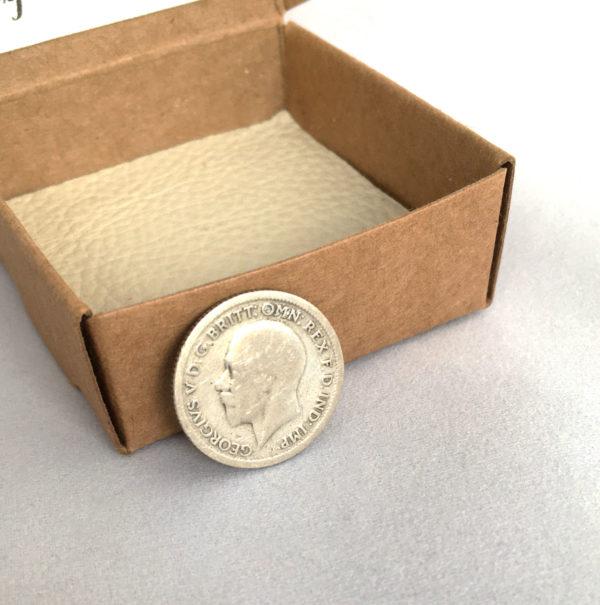 zilveren sixpence uit 1929