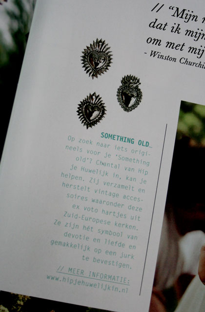 Ex voto hartjes in Bruid & Bruidegom magazine