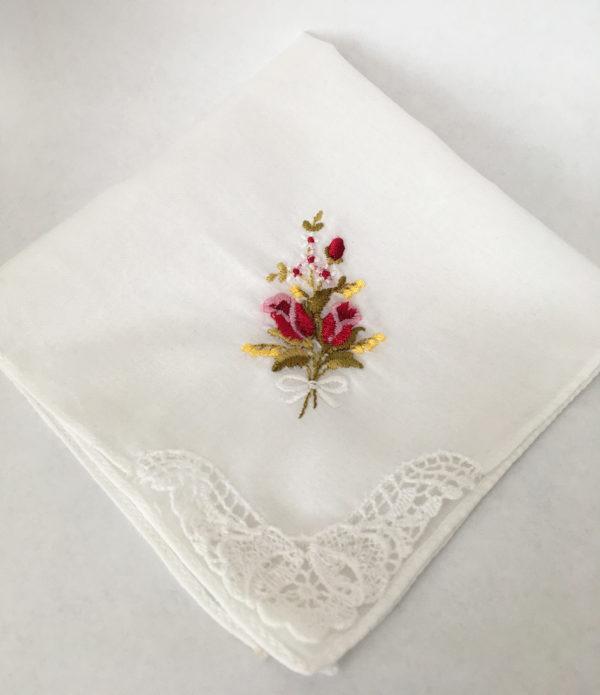 vintage zakdoekje met tulpjes