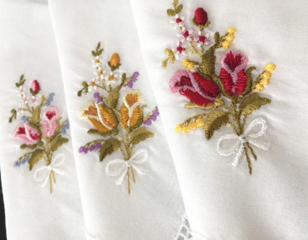 Zakdoekjes met tulpjes