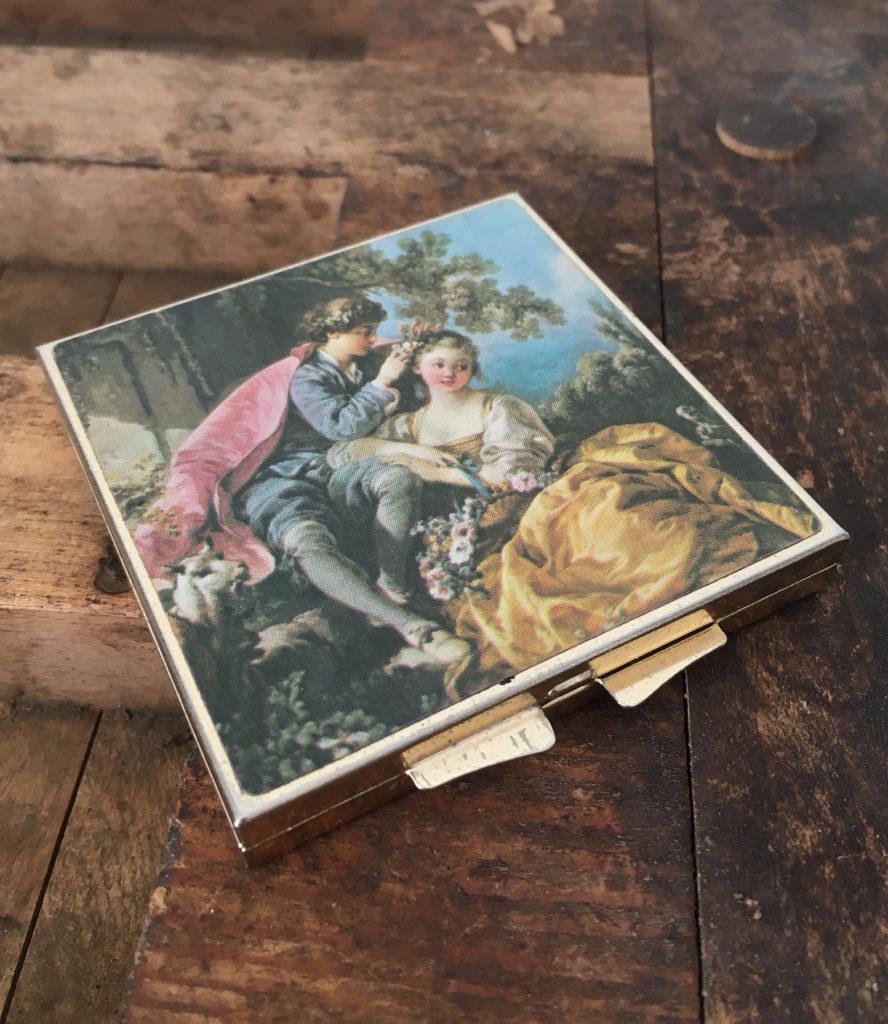 vintage zakspiegel voor de bruid