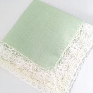 mintgroen vintage zakdoek