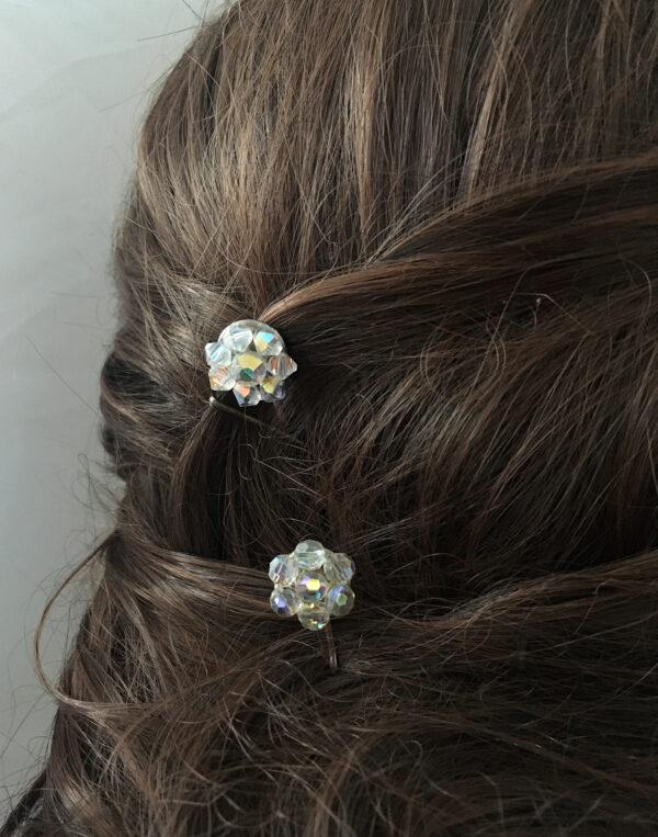 Haarspeldjes voor de bruid aurora borealis
