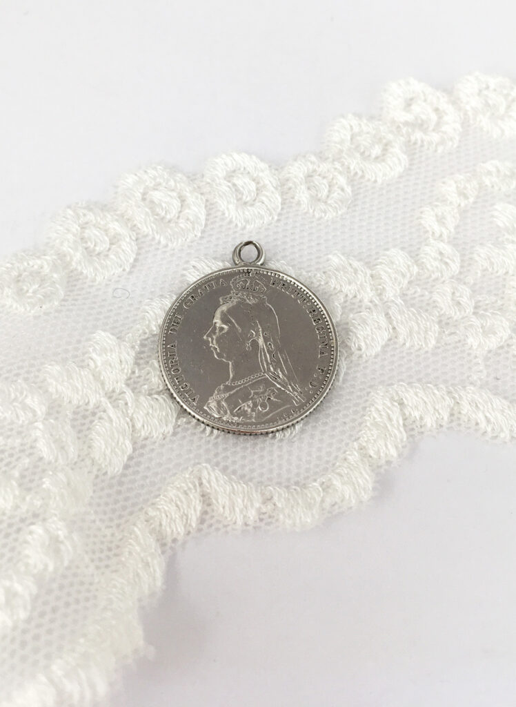 Sterling silver threepence coin, lucky something old