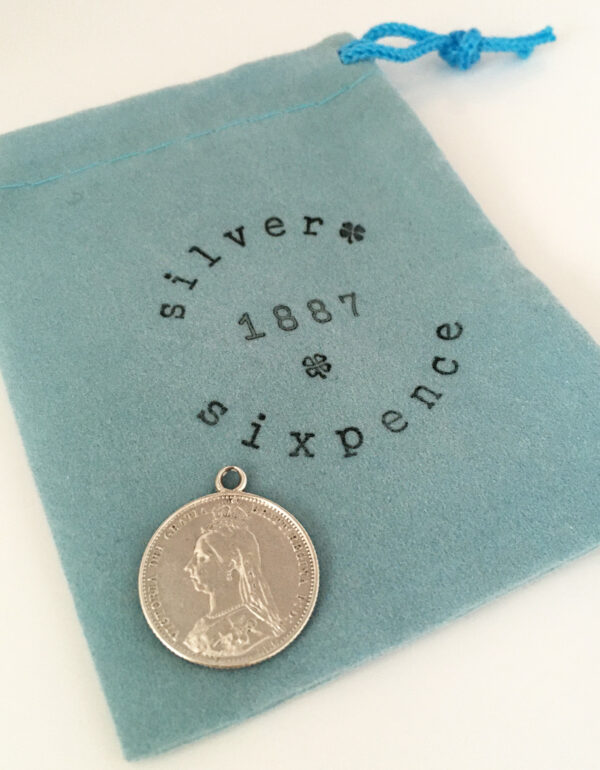 Queen Victoria silver sixpence