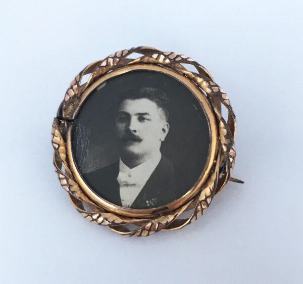 antieke foto broche