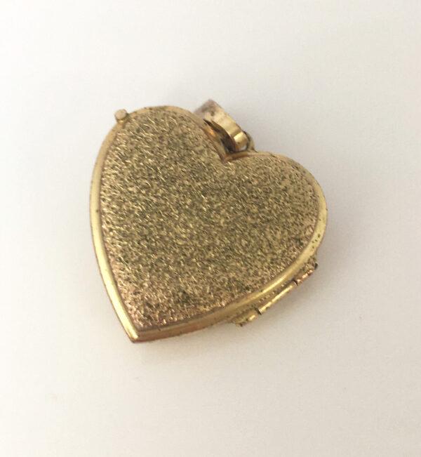 Hartvormig vintage medaillon voor de bruid