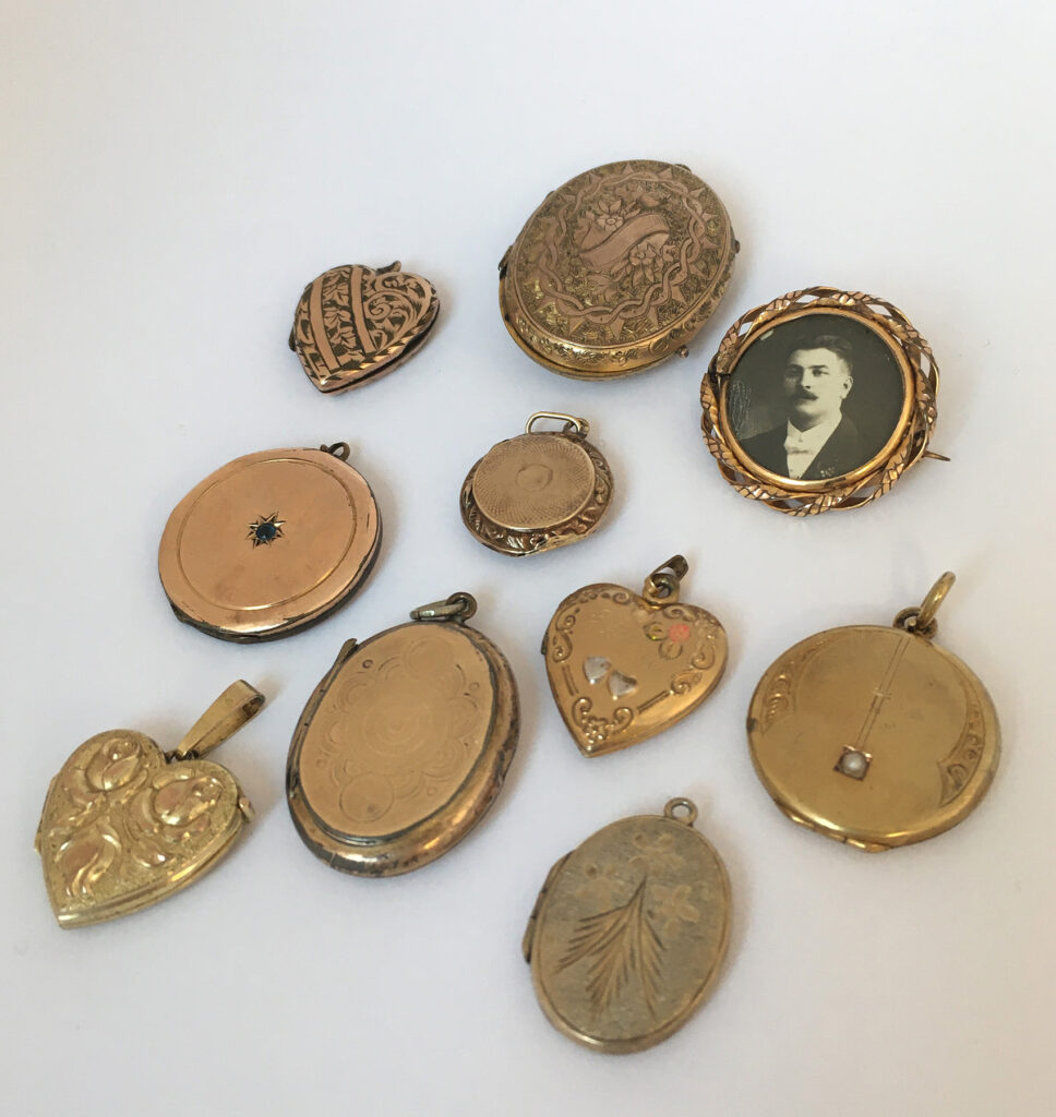 Vintage en antieke medaillons voor de bruid