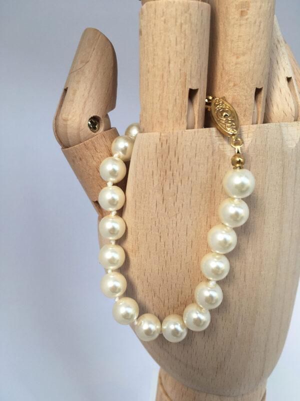 Parelketting en armband voor de bruid, vintage bruidssieraden