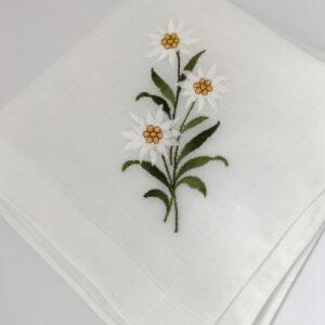 Zakdoekje met edelweiss
