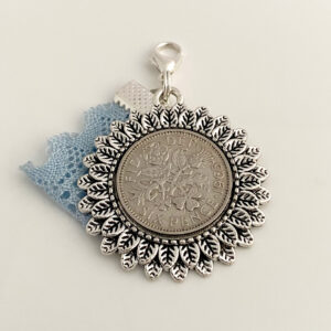 Sixpence and something blue