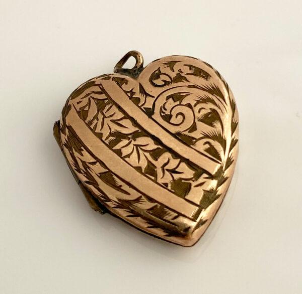 victoriaans hartvormig medaillon