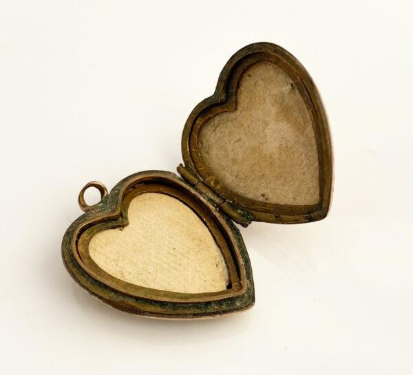 victoriaans hart medaillon
