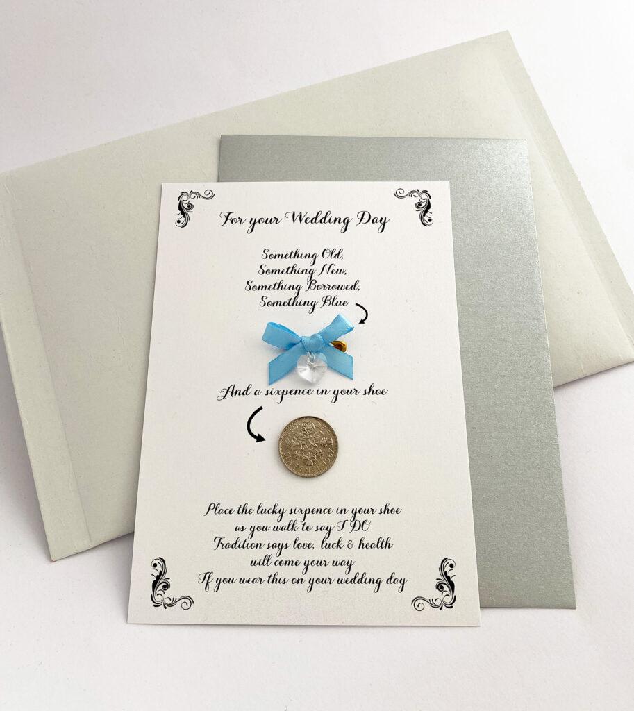 Gelukskaartjes voor de bruid
