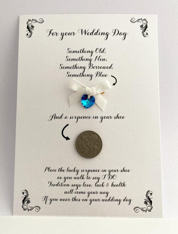 kaart voor de bruid met cadeautje
