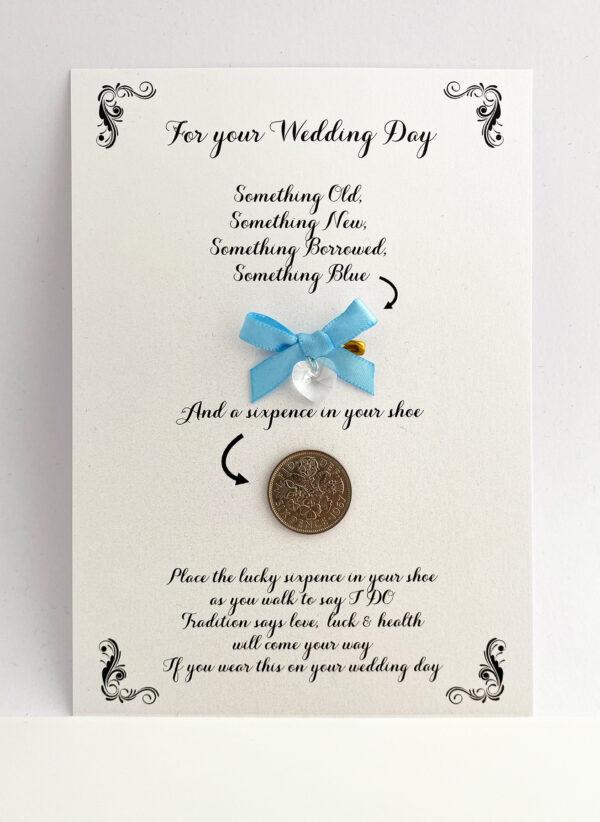 kaartje voor de bruid mét een cadeautje voor extra geluk